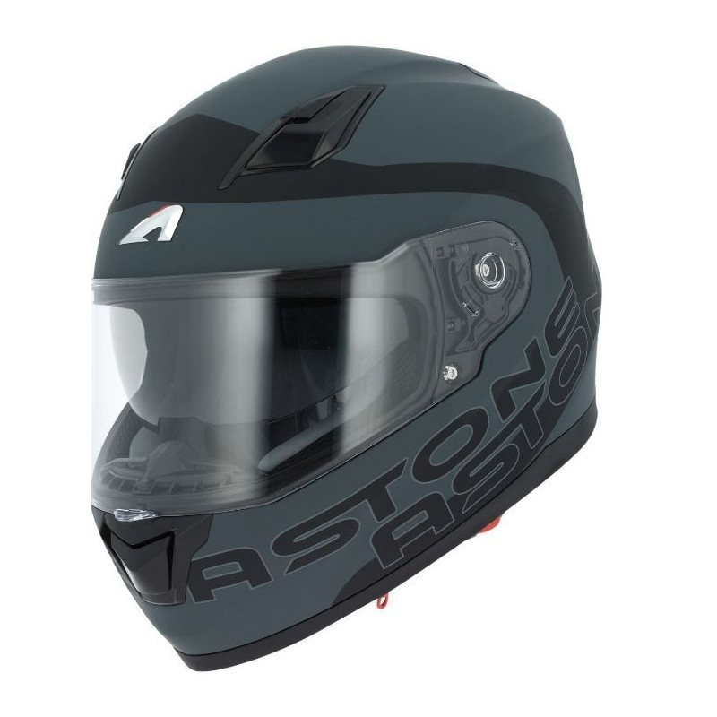 CASCO ASTONE GT900 EXCLUSIVE APOLLO NEGRO MATE VISTA FONTAL-MP Racing