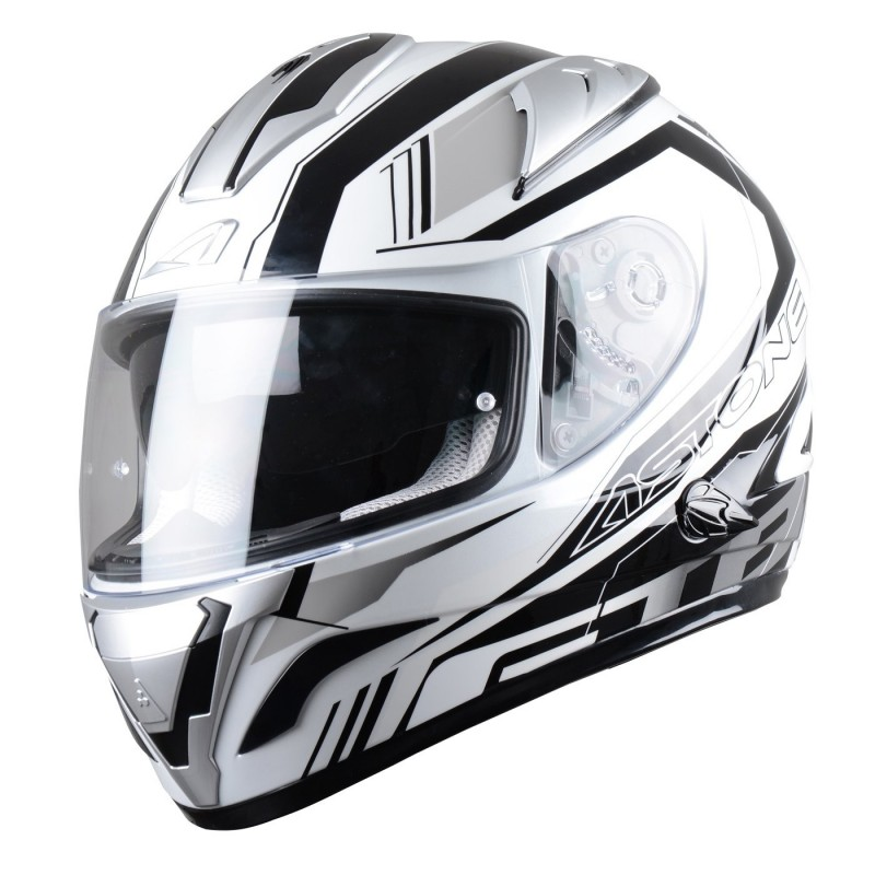 CASCO GTB600 MIRAGE GRIS VISTA FRONTAL-MP Racing