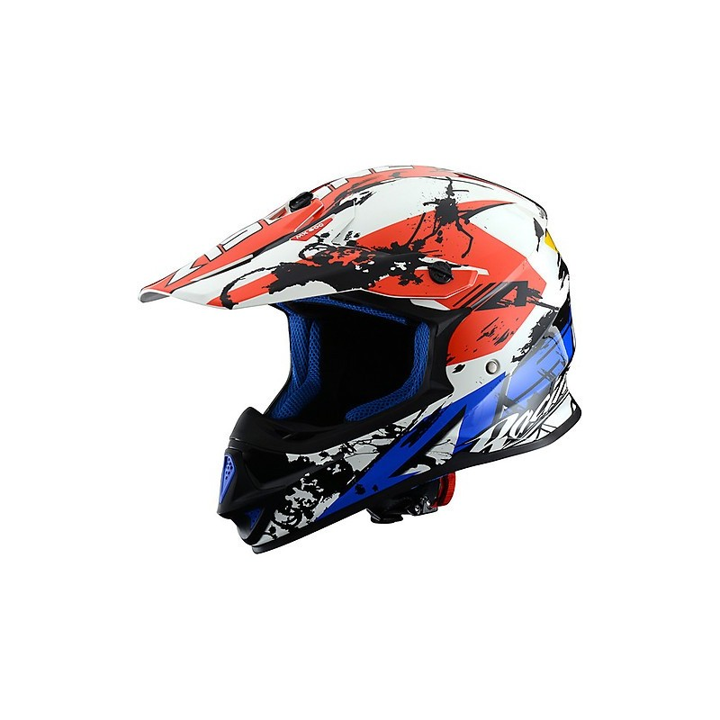CASCO MX600-GIANT BLUE/WHITE/RED IMAGEN FRONTAL