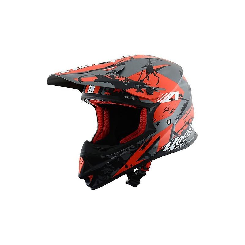 CASCO MX600-GIANT BLACK/RED IMAGEN FRONTAL