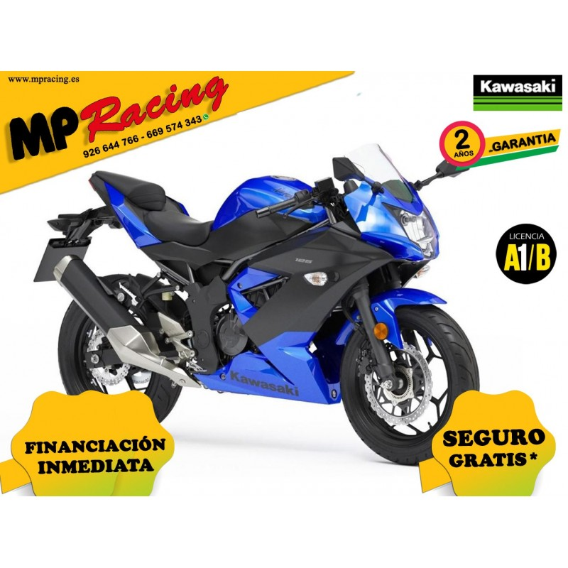 KAWASAKI NINJA 125 COLOR AZUL MP