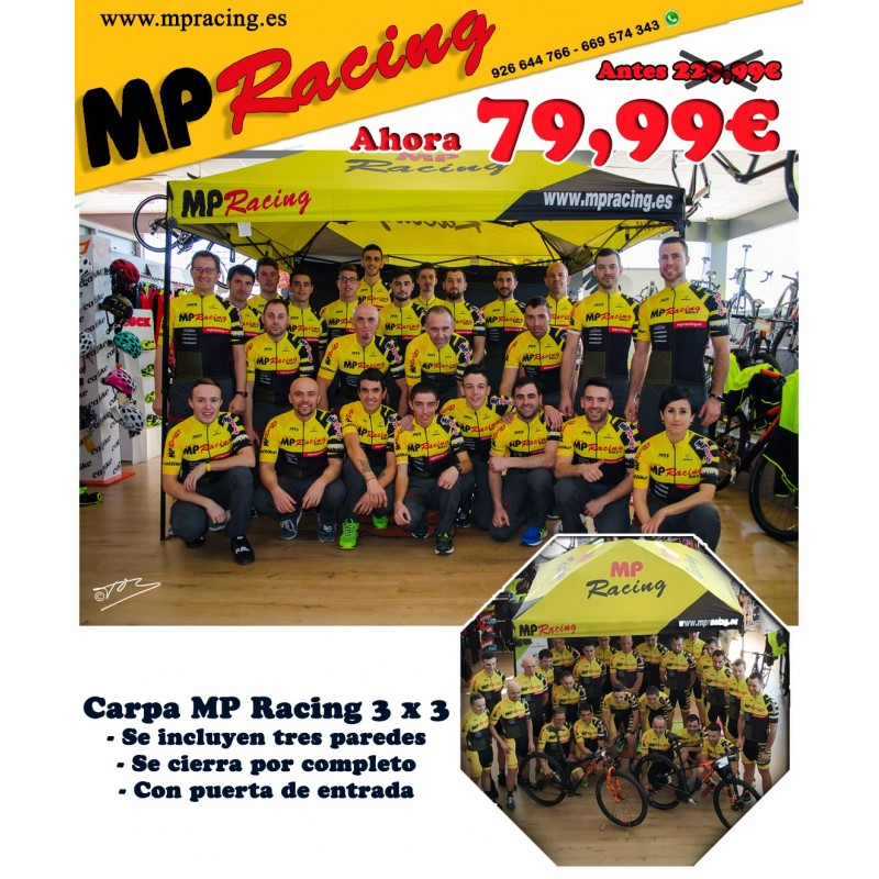 CARPA MP RACING 3 X 3 CON PAREDES Y PUERTA DE ENTRADA