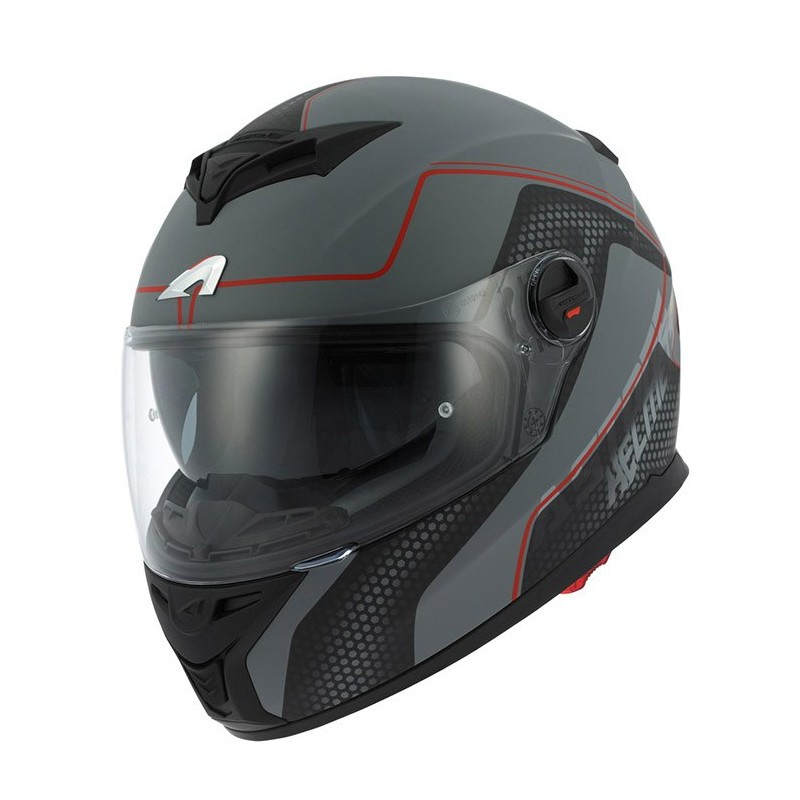 CASCO ASTONE GT800 EXCLUSIVE ALVEO ROJO/GRIS