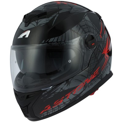 CASCO ASTONE GT800 EXCLUSIVE SPIDER ROJO/NEGRO