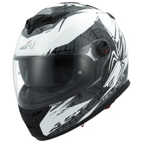 CASCO ASTONE GT800 EXCLUSIVE SPIDER BLANCO/NEGRO