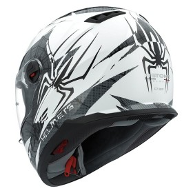 CASCO ASTONE EXCLUSIVE SPIDER BLANCO/NEGRO