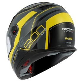 CASCO ASTONE GT800 EXCLUSIVE WIRE NEGRO/AMARILLO TRASERA