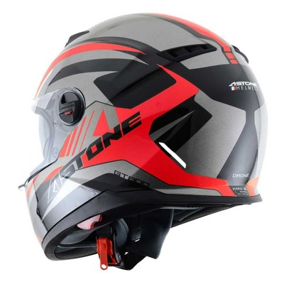 CASCO ASTONE GT800 EXCLUSIVE DRONE NEGRO/ROJO