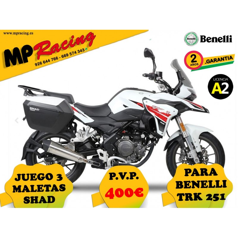 JUEGO 3 MALETAS SHAD BENELLI TRK 251 MP