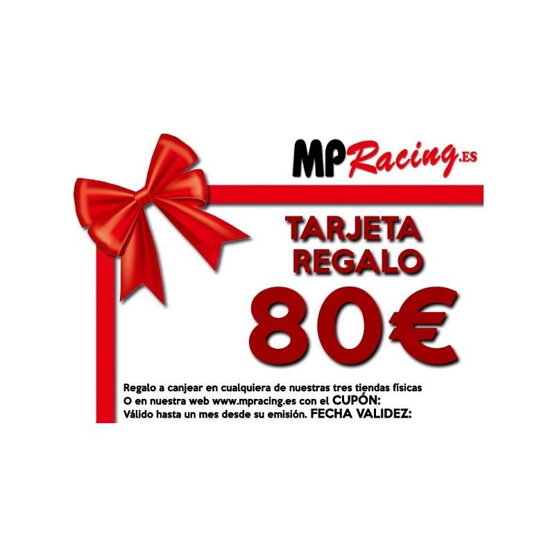 TARJETA REGALO 80€ PARA CANJEAR EN MP RACING
