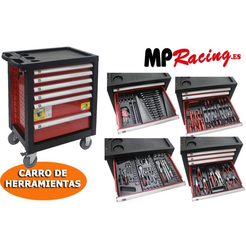 CARRO DE  HERRAMIENTAS 130 PIEZAS MP RACING
