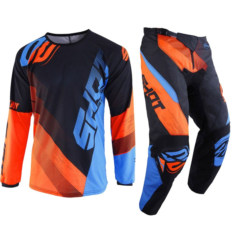 TRAJE OF-ROAD SHOT ULTIMATE BLEU NEON ORANGE