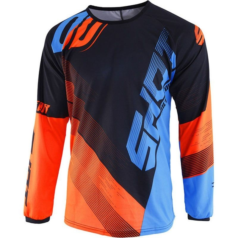 MAILLOT OFF-ROAD SHOT ULTIMATE BLEU NEON ORANGE DELANTERA