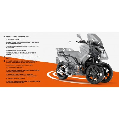 MOTO TRES RUEDAS QV3 CARACTERISTICAS