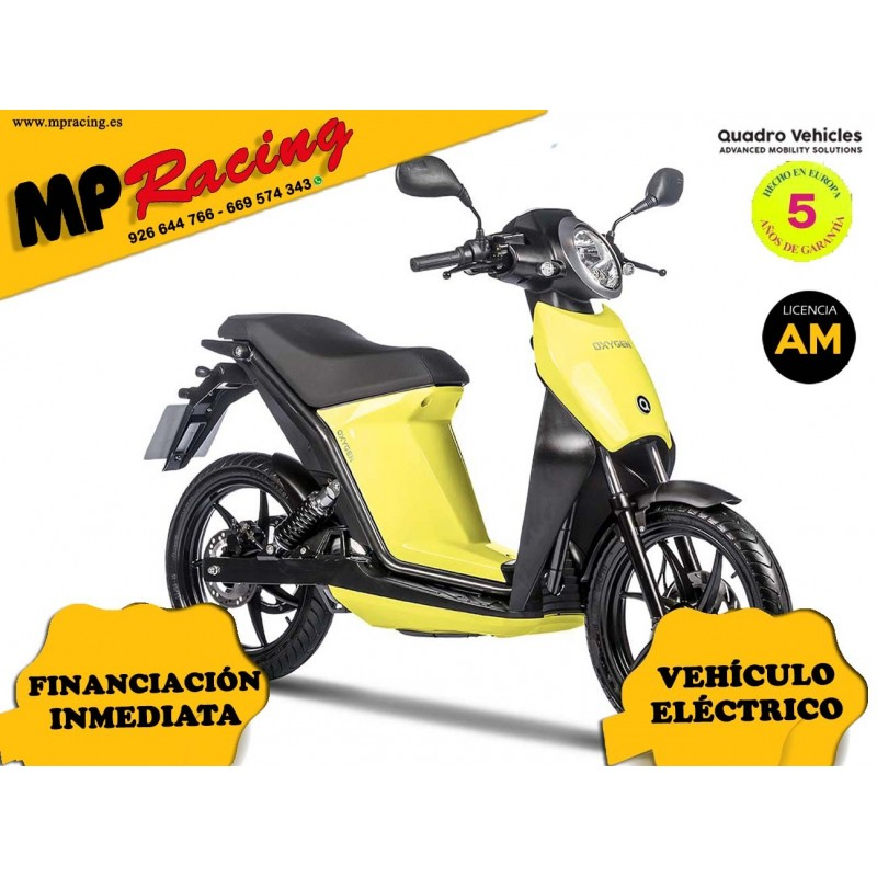 MOTO ELECTRICA OXYGEN DE QUADRO VEHICLES AMARILLO MP