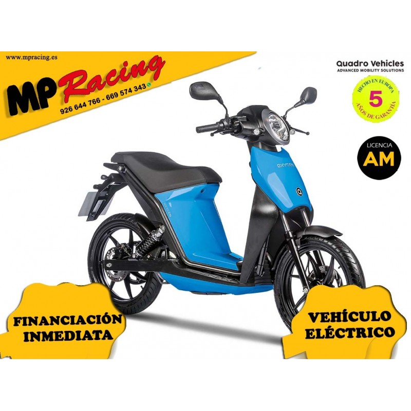 MOTO ELECTRICA OXYGEN DE QUADRO VEHICLES AZUL CLARO MP