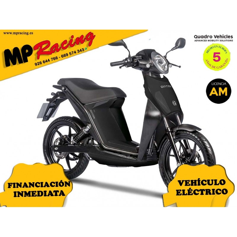 MOTO ELECTRICA OXYGEN DE QUADRO VEHICLES NEGRO MP