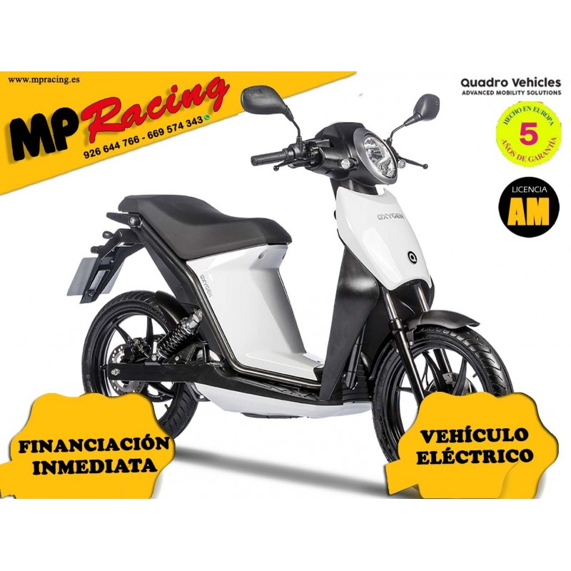 MOTO ELECTRICA OXYGEN DE QUADRO VEHICLES BLANCO MP