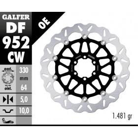 DISC WAVE FLOATING COMPLETE (C. ALU.) 330x5mm