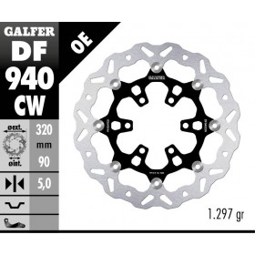 DISC WAVE FLOATING COMPLETE (C. ALU.) 320x5mm