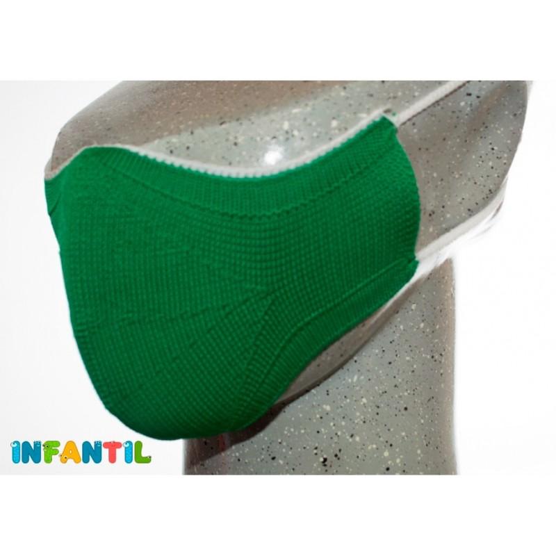 Mascarillas reutilizables higiénicas para niños en color verde - Protégete